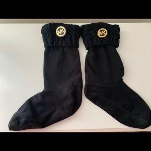 Michael Kors Cable Knit Boot Socks